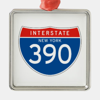Interstate Sign 390 - New York Christmas Ornament