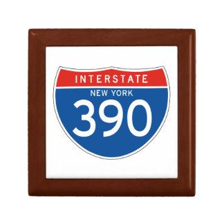 Interstate Sign 390 - New York Keepsake Box