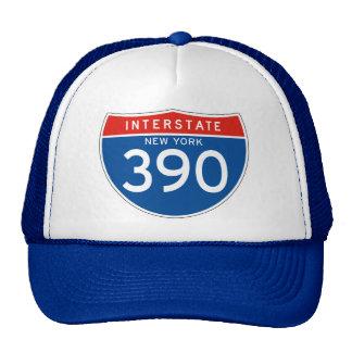 Interstate Sign 390 - New York Trucker Hats