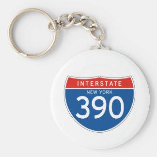 Interstate Sign 390 - New York Keychain