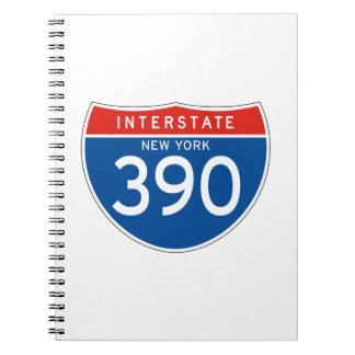 Interstate Sign 390 - New York Spiral Notebook