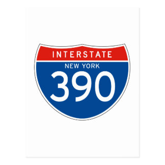 Interstate Sign 390 - New York Post Card