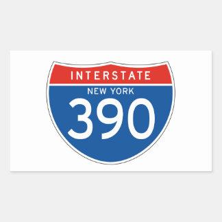 Interstate Sign 390 - New York Rectangular Sticker