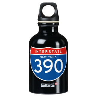 Interstate Sign 390 - New York SIGG Traveller 0.3L Water Bottle