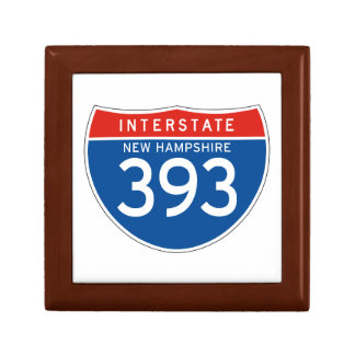 Interstate Sign 393 - New Hampshire Jewelry Boxes
