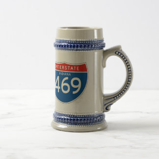 Interstate Sign 469 - Indiana Beer Stein