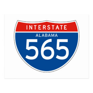 Interstate Sign 565 - Alabama Post Card
