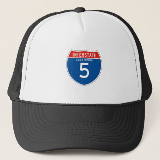 Interstate Sign 5 - Californian Trucker Hat