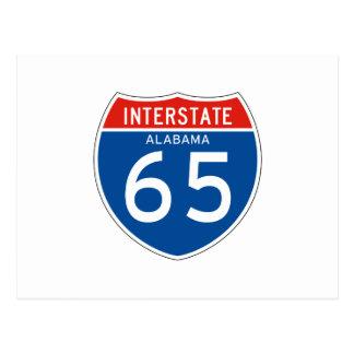 Interstate Sign 65 - Alabama Post Card