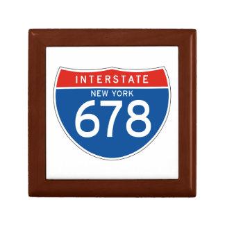 Interstate Sign 678 - New York Trinket Box