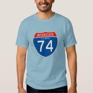 Interstate Sign 74 - Illinois Tee Shirt