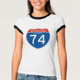 Interstate Sign 74 - Illinois Tees