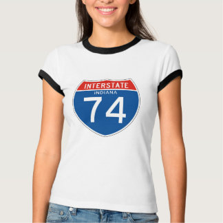 Interstate Sign 74 - Indiana T Shirt