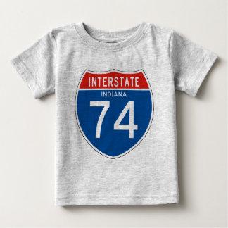 Interstate Sign 74 - Indiana Tee Shirts