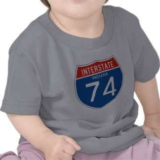Interstate Sign 74 - Indiana T-shirts