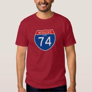 Interstate Sign 74 - Iowa Shirts