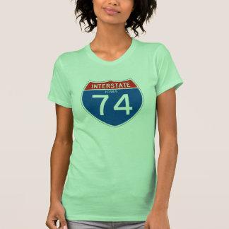 Interstate Sign 74 - Iowa T Shirts