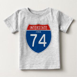 Interstate Sign 74 - Iowa Tshirt