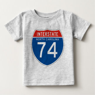 Interstate Sign 74 - North Carolina T Shirts