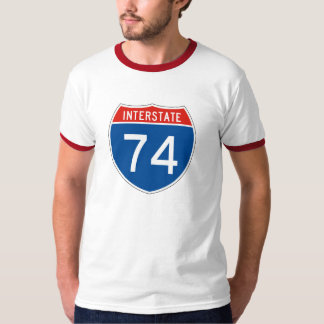 Interstate Sign 74 Shirts