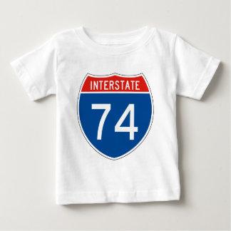 Interstate Sign 74 Tshirts