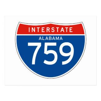 Interstate Sign 759 - Alabama Post Cards
