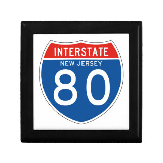 Interstate Sign 80 - New Jersey Gift Box