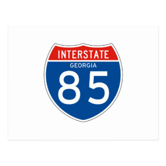 Interstate Sign 85 - Georgia Postcard