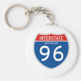 Interstate Sign 96 - Michigan Key Ring
