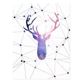 Interstellar deer postcard