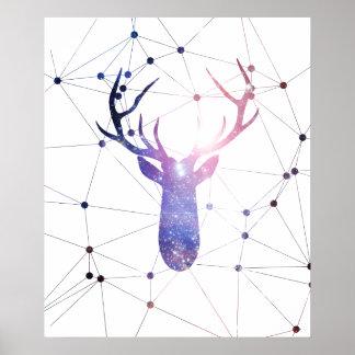 Interstellar deer poster