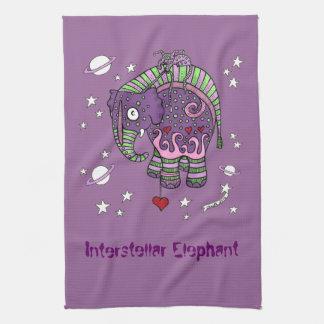 Interstellar Elephant Tea Towel