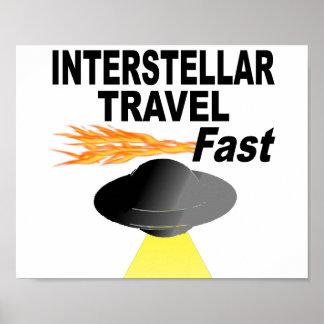 Interstellar Travel Fast Poster
