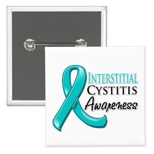Interstitial Cystitis  Awareness Ribbon Pinback Button