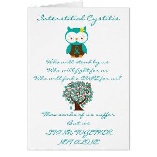 Interstitial Cystitis Owl Card
