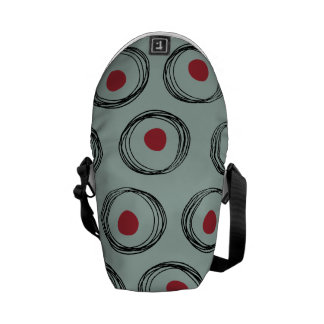 Intertwined Circles Courier Bag