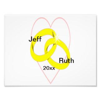 Intertwined Wedding Rings & Heart Photo