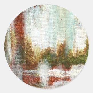 Interval From Original Painting Round Sticker