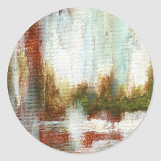 Interval From Original Painting Classic Round Sticker