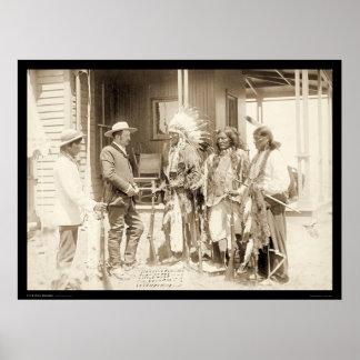 Interviewing Three Cheyenne Indians SD 1887 Poster