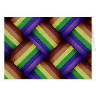 Interwoven LGBT Gay Pride Rainbow Ribbon! Card