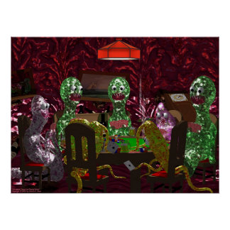 Intestinal Parasites Playing Poker Poster