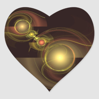 Intimate Connection Abstract Art Heart Sticker