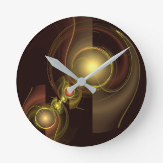 Intimate Connection Abstract Art Round Round Clock