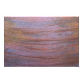 Intimidating Planet Purple Metallic Copper Bronze Photo Art