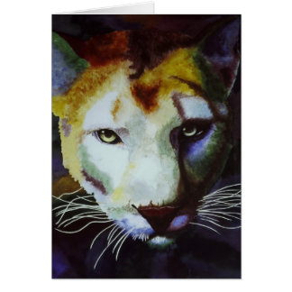 Intimidation, Cougar note card