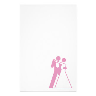 Int'l Sign for Bride & Groom Customized Stationery