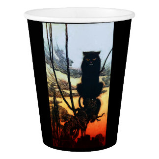 Into A Cat Paper Cup