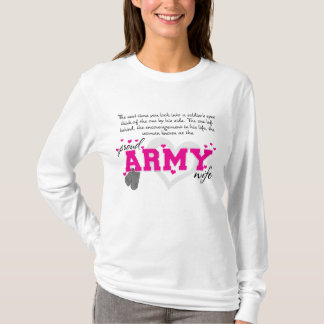 Into a Soldier's eyes - Proud Army Wife T-Shirt