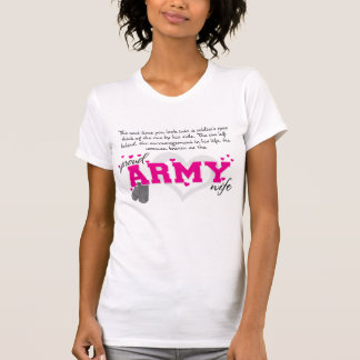 Into a Soldier's eyes - Proud Army Wife Shirts